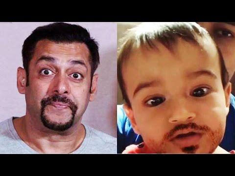 Cute Ahil Want To Be Like Mamu Salman Khan - Here's The Proof