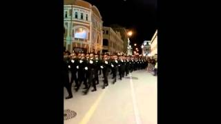 COOL! China's PLA honor guards sing Katyusha in Russian at Red Square while marching