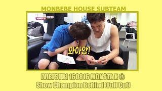 [VIETSUB] 160816 MONSTA X @ Show Champion Behind (Full Cut)