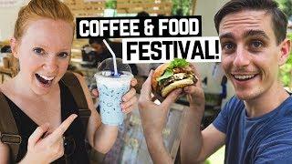 THAI FOOD & COFFEE FESTIVAL! + Beautiful Drone Flight (Chiang Rai, Thailand)