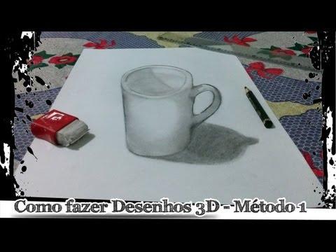 Como fazer desenhos 3D Método 1