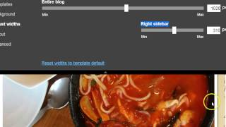 How to adjust widths for Blogger templates