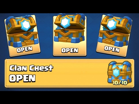CLAN CHEST ''TIER 10'' OPENING :: Clash Royale :: MAX CLAN CHEST OPENING!