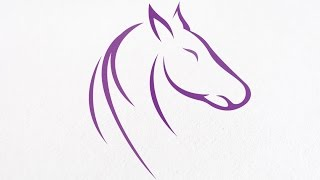 Horse logo design with Corel Draw X7