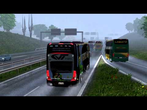 Euro Truck Simulator 2 Bus trip to Gdansk with Marcopolo Paradiso G7 1800 DD p1
