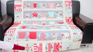 Part 1/3. Menjahit Alas Sofa Quilting dari Kain Perca (Metoda Paper Piecing)