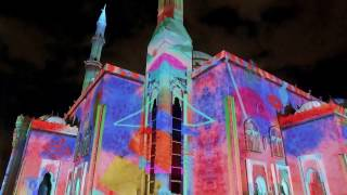 360° video mapping on Masjid Al Noor Mosque at SLF 2017