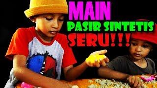 WOW SERUU!! unboxing MAINAN MODELLING SAND PASIR SINTETIK MAINAN SERU BANGET!1