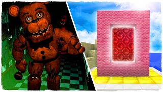 👉 COMO HACER UN PORTAL A LA DIMENSIÓN DE FIVE NIGHTS AT FREDDY'S - MINECRAFT
