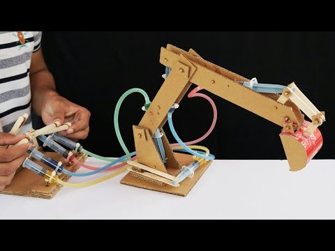 How to Make Hydraulic JCB From Cardboard
