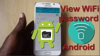 How to view WiFi password Android