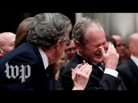 Xxx Mp4 10 Times George HW Bush39s Humor Brought Laughter To His Loved Ones In Mourning 3gp Sex