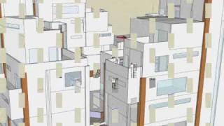 建築畢業設計 洪氏家族住宅Google SketchUp 影片