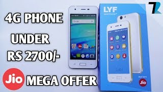 Jio 4G Volte Smartphone - Best Offer With Rs 2307/- Package