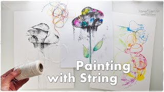 Pulled String Flower Painting Technique for Beginners ♡ Maremi's Small Art ♡