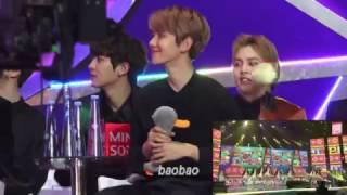 170114 EXO Baekhyun reaction to I.O.I Very Very Very(너무 너무 너무) + Dream Girls @ GDA 2017