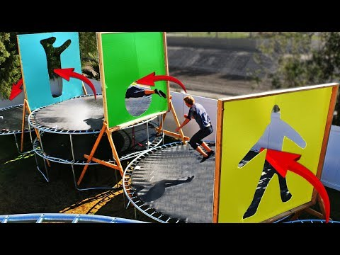 Parkour through Impossible Shapes in our Backyard Trampoline Park