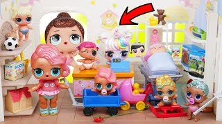 LOL SURPRISE DOLLS Sparkles at Toy Store on School Field Trip! Home Sick with Toys from Trampoline
