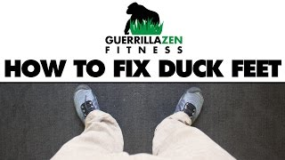 How To Fix Duck Feet | Externally Rotated Legs