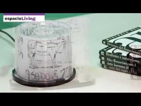 Cómo hacer una lámpara con una caja de cds