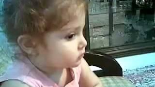 Cute baby talking in Persian