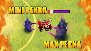 MINI PEKKA vs PEKKA - Shrink Trap Gameplay - Clash of Clans Battle! Who Will Win?