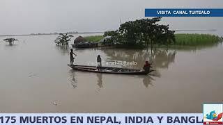Inundaciones dejan 175 muertos en Nepal, India y Bangladesh Video