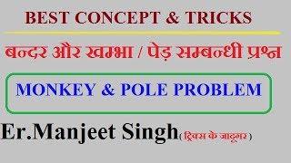 बंदर और पोल  संबंधी प्रश्न || MONKEY AND POLE PROBLEM