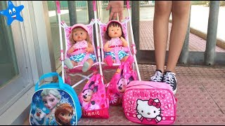 ¡Vuelta al cole! Estrenan mochila y bolsa de aseo Frozen y Hello Kitty Ani y Ona NENUCO