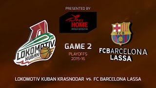 Highlights: Lokomotiv Kuban Krasnodar-FC Barcelona Lassa, Game-21 3000