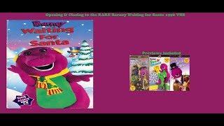 Barney Waiting for Santa Rare 1996 VHS Opening & Closing