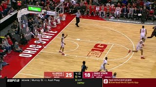 First Half Highlights: Illinois at Ohio State | Big Ten Basketball
