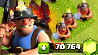 Clash of Clans - Gemming Miner to MAX! New Update Gameplay