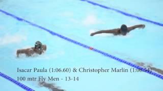 Isacar Paula & Christoffer Marlin 100 Fly CARIFTA 2016