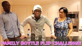FAMILY BOTTLE FLIP CHALLENGE!!!