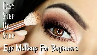 Beginners Eye Makeup Tutorial   Soft Glam Eye Shadow   How To Apply Eyeshadow