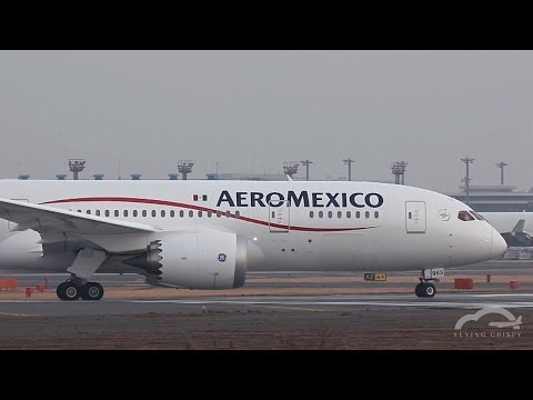 Aeroméxico B787 8 N965AM Dreamliner Takeoff at Narita International Airport