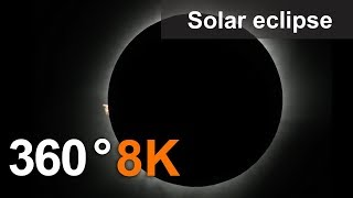 360°, Solar eclipse on Bali, 8K video