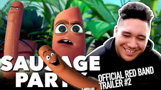 SAUSAGE PARTY - Official Red Band Trailer #2 REACTION!!!