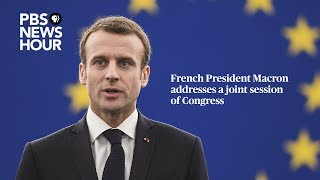 WATCH LIVE: French President Macron addresses a joint session of Congress