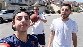 BASKETBALL BATTLE! Rug vs Papa Rug vs Brawadis