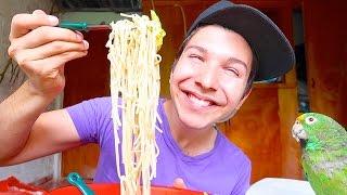 Noodles With Mr. Noodle • MUKBANG