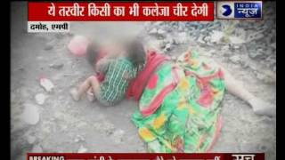 An infant cries for mother in Damoh, MP