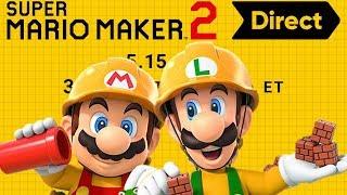 Super Mario Maker 2 Direct LIVE REACTION
