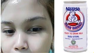 tips memutihkan wajah menggunakan susu beruang || tutorial memutihkan
