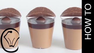 Chocolate Caramel Mousse Shot Glass Dessert Cups by Cupcake Savvy