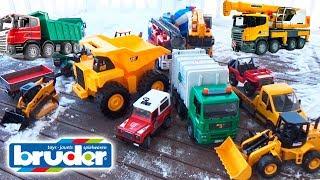 Cars for kids Construction Trucks Crash Bruder Cars Toys Video #Машинки для детей