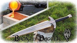 Casting a Bronze Dagger From The Game Skyrim (Valdr's Lucky Dagger)
