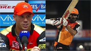 SRH v KXIP: David Warner Pleased With Shikhar Dhawan's Form