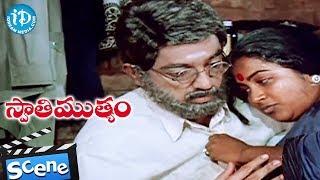Swati Mutyam Movie Climax Scene - Radhika - Kamal Hassan